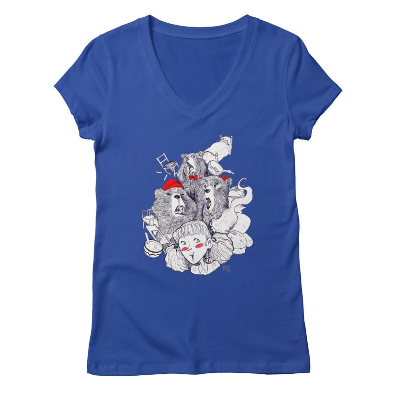 TheThreeBears Women's V-Neck by roby's Artist Shop