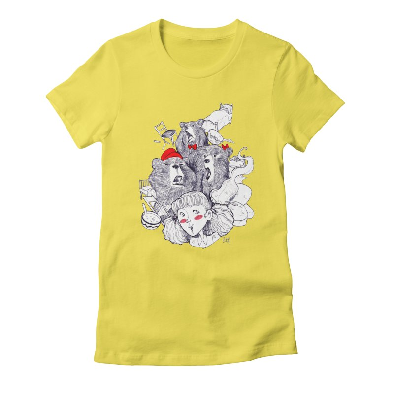 TheThreeBears Women's Fitted T-Shirt by roby's Artist Shop