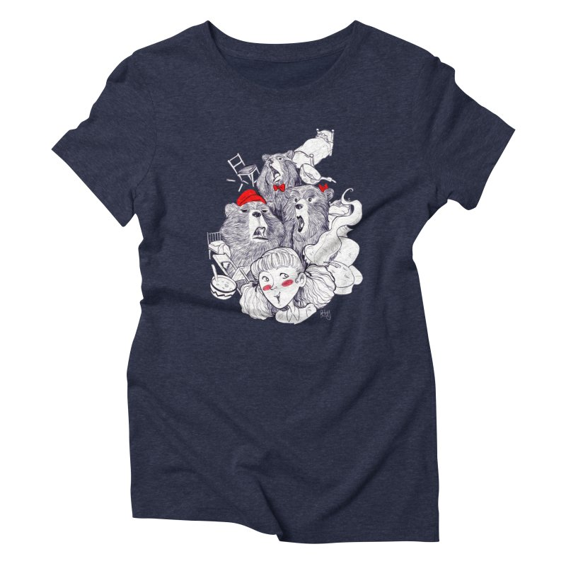TheThreeBears Women's Triblend T-Shirt by roby's Artist Shop