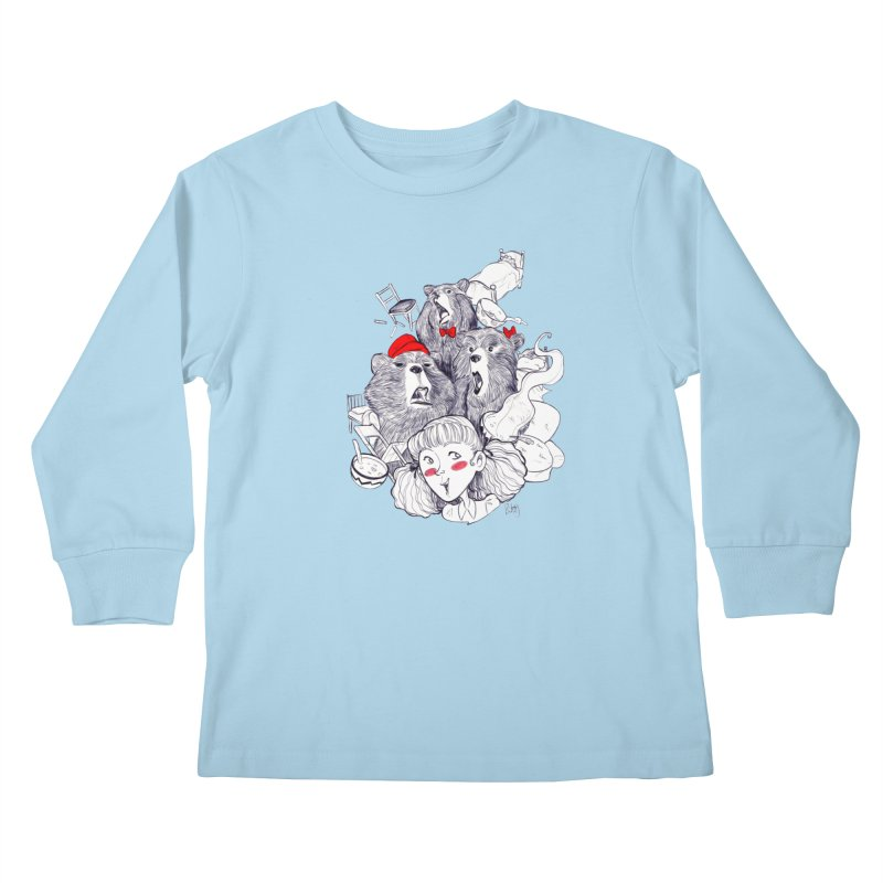 TheThreeBears Kids Longsleeve T-Shirt by roby's Artist Shop
