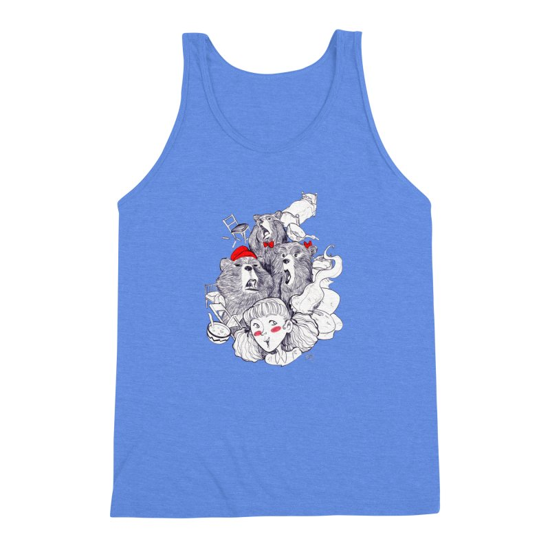 TheThreeBears Men's Triblend Tank by roby's Artist Shop