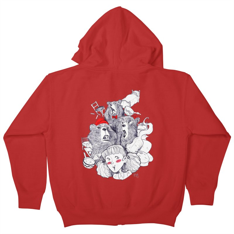 TheThreeBears Kids Zip-Up Hoody by roby's Artist Shop