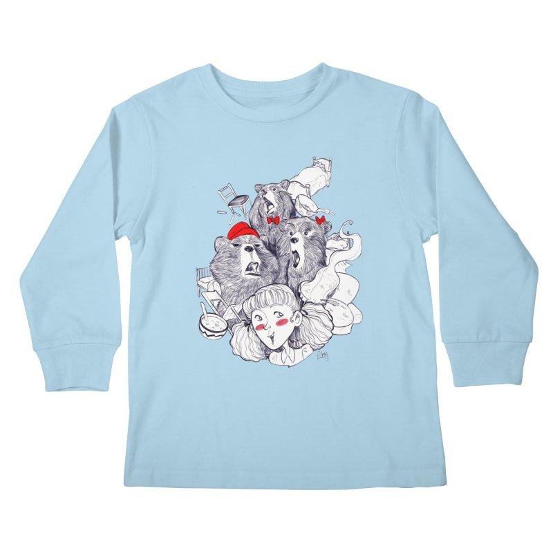 TheThreeBears Kids Longsleeve T-Shirt by roby's Artist Shop
