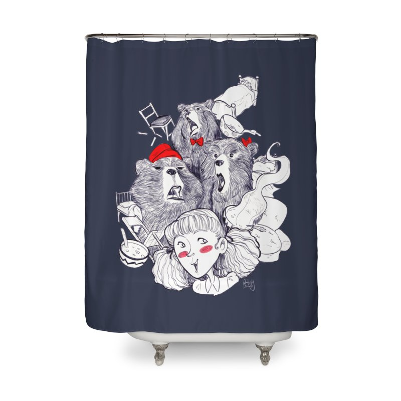TheThreeBears Home Shower Curtain by roby's Artist Shop