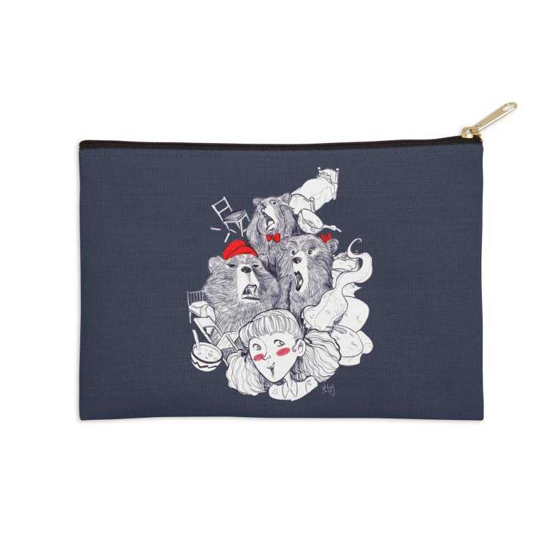 TheThreeBears Accessories Zip Pouch by roby's Artist Shop