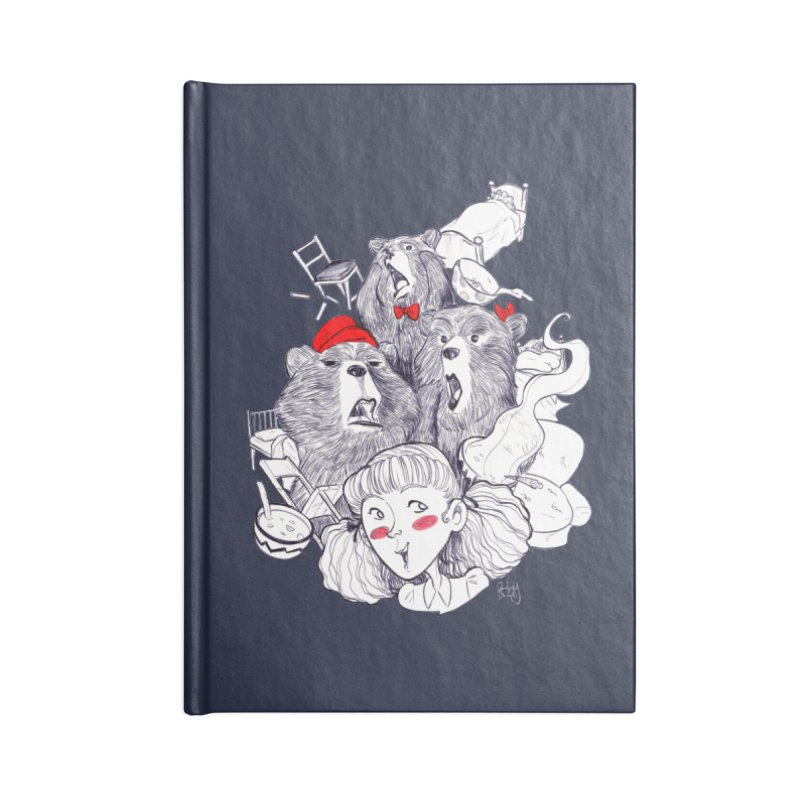 TheThreeBears Accessories Blank Journal Notebook by roby's Artist Shop