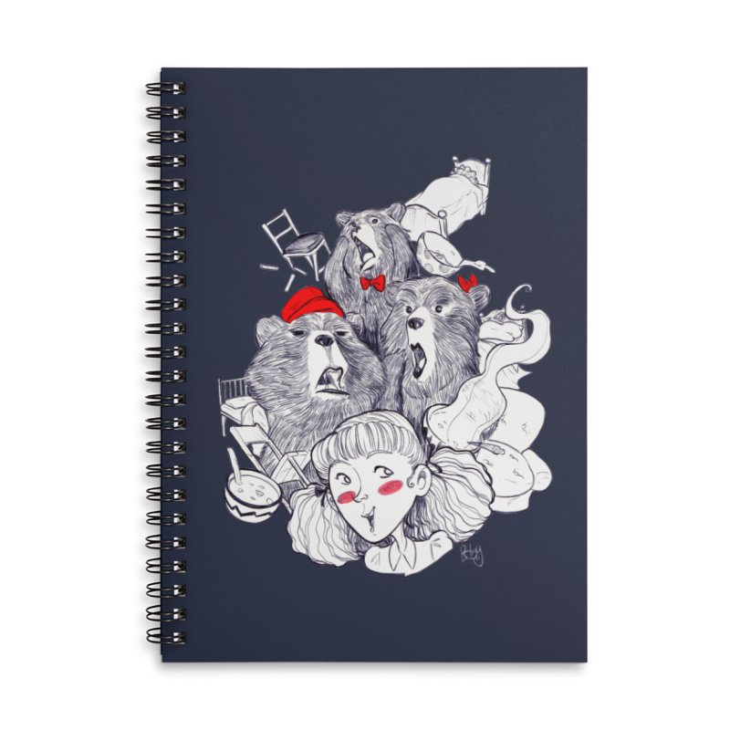 TheThreeBears Accessories Lined Spiral Notebook by roby's Artist Shop
