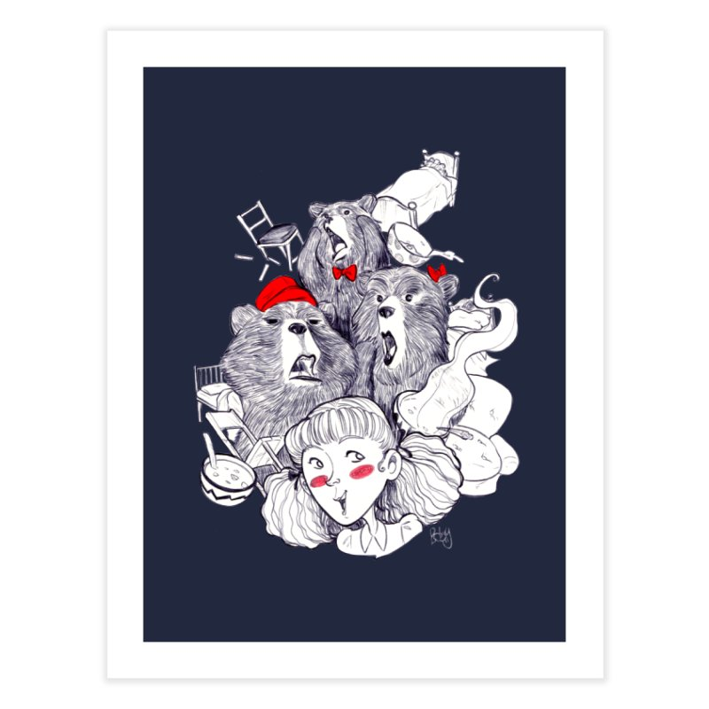TheThreeBears Home Fine Art Print by roby's Artist Shop