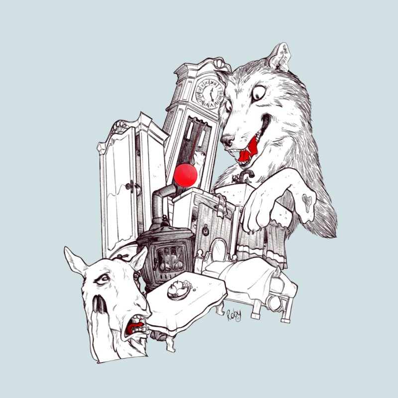 Wolf&7LittleGoats by roby's Artist Shop