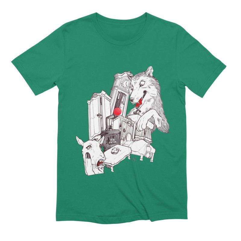 Wolf&7LittleGoats Men's Extra Soft T-Shirt by roby's Artist Shop