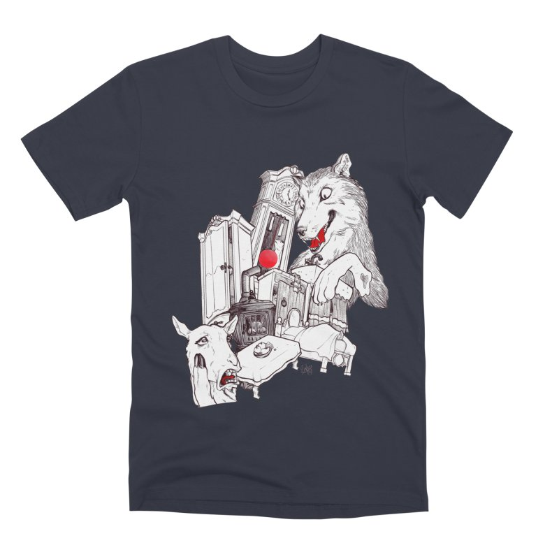 Wolf&7LittleGoats Men's Premium T-Shirt by roby's Artist Shop