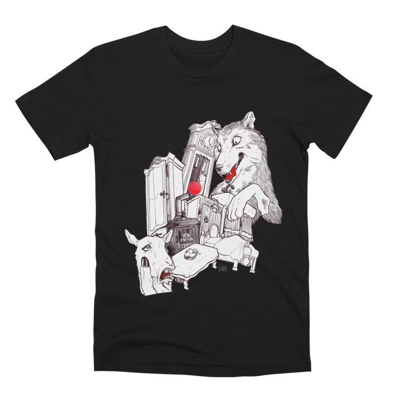 Wolf&7LittleGoats Men's Premium T-Shirt by roby's Artist Shop