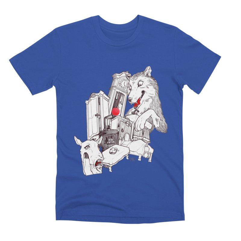 Wolf&7LittleGoats Men's T-Shirt by roby's Artist Shop