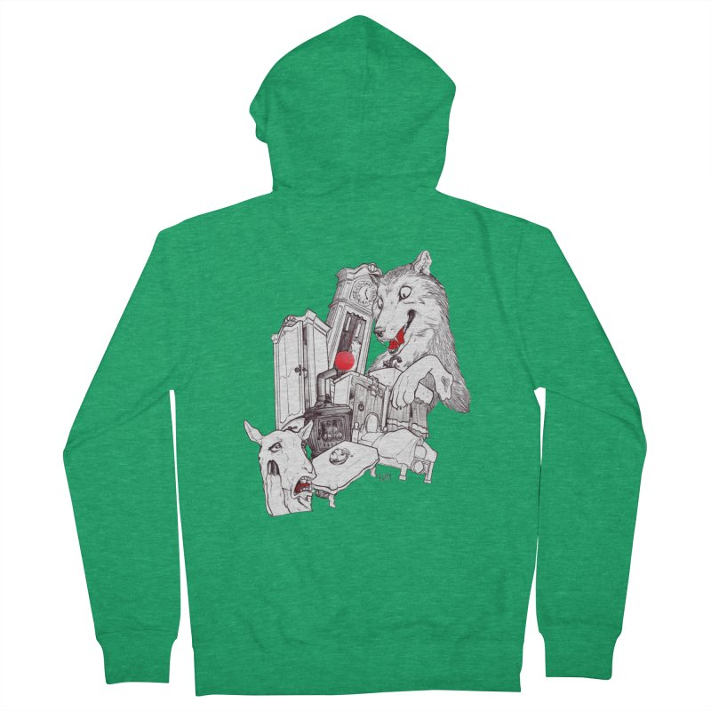 Wolf&7LittleGoats Women's Zip-Up Hoody by roby's Artist Shop