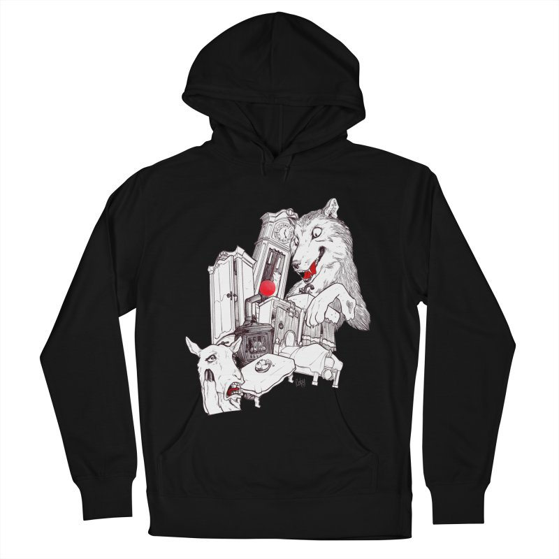 Wolf&7LittleGoats Women's French Terry Pullover Hoody by roby's Artist Shop