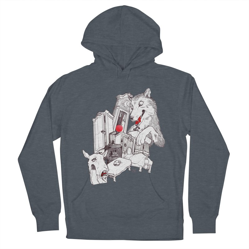 Wolf&7LittleGoats Men's Pullover Hoody by roby's Artist Shop