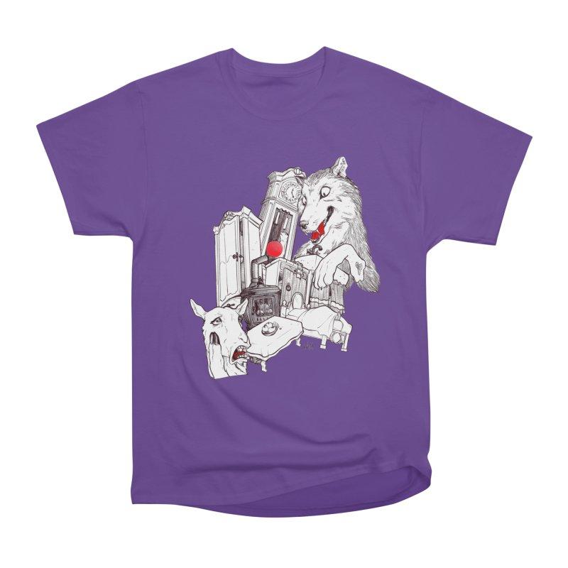 Wolf&7LittleGoats Men's Heavyweight T-Shirt by roby's Artist Shop