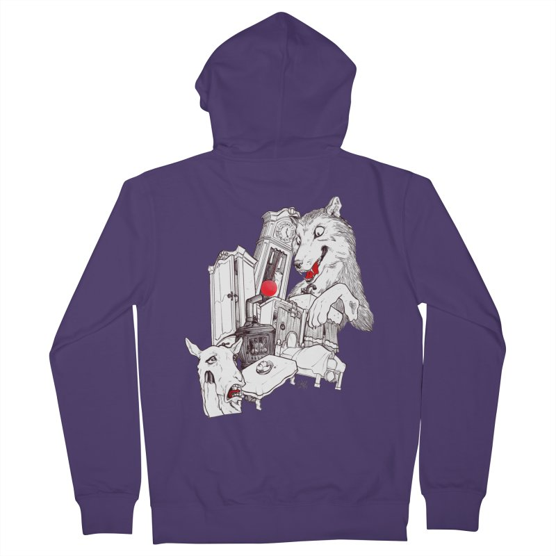 Wolf&7LittleGoats Women's French Terry Zip-Up Hoody by roby's Artist Shop