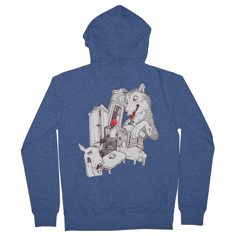 Wolf&7LittleGoats Men's French Terry Zip-Up Hoody by roby's Artist Shop