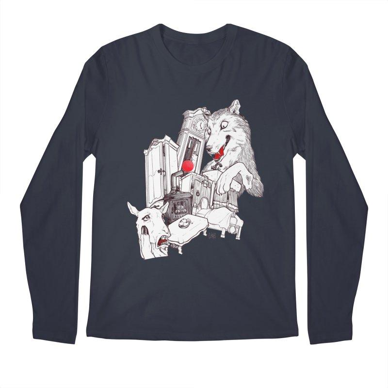 Wolf&7LittleGoats Men's Longsleeve T-Shirt by roby's Artist Shop