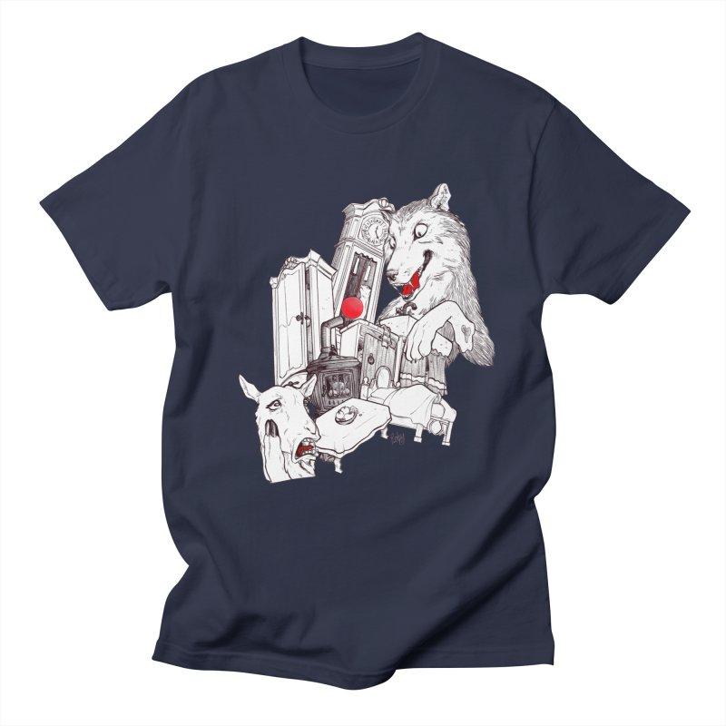 Wolf&7LittleGoats Men's Regular T-Shirt by roby's Artist Shop