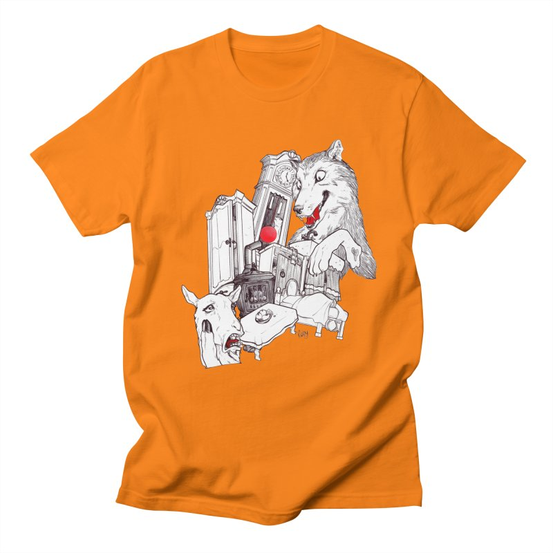 Wolf&7LittleGoats Men's T-Shirt by roby's Artist Shop