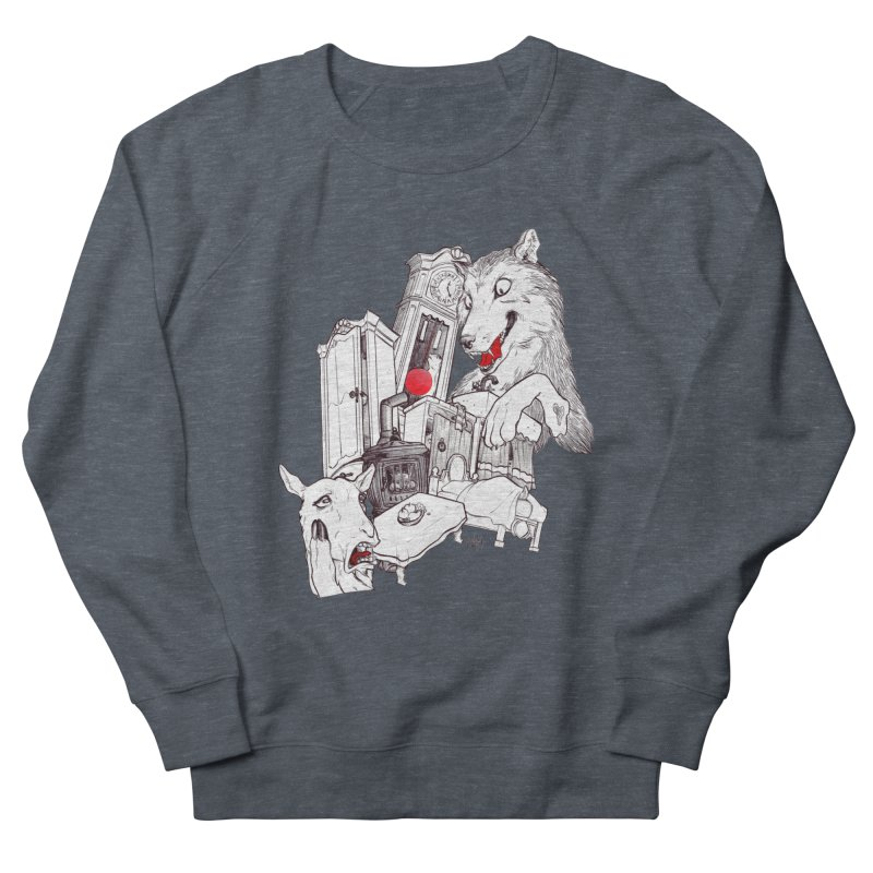 Wolf&7LittleGoats Women's French Terry Sweatshirt by roby's Artist Shop