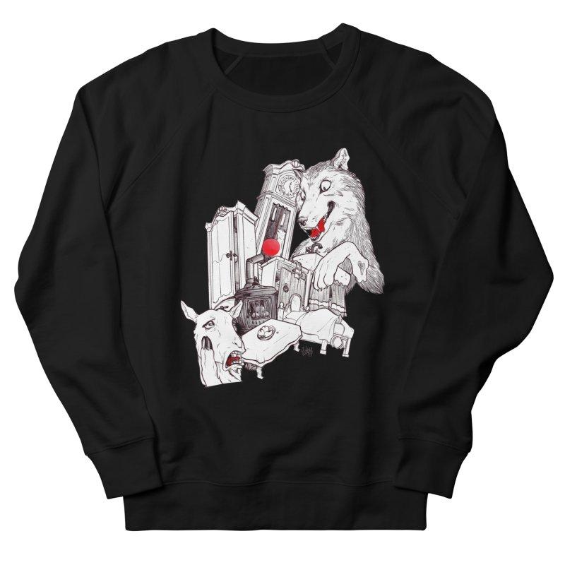 Wolf&7LittleGoats Men's Sweatshirt by roby's Artist Shop