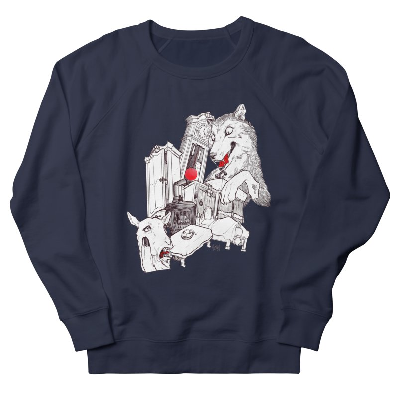 Wolf&7LittleGoats Men's Sweatshirt by roby's Artist Shop