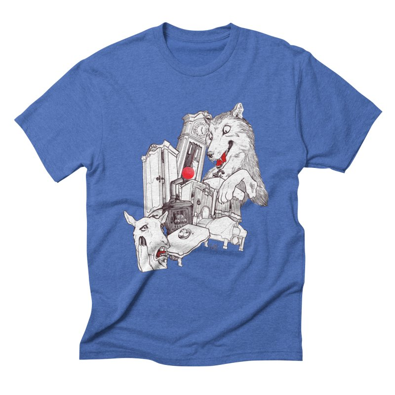 Wolf&7LittleGoats Men's Triblend T-Shirt by roby's Artist Shop