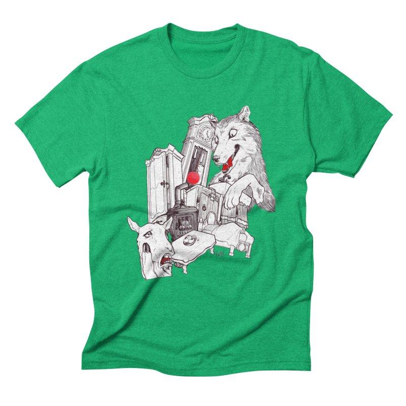 Wolf&7LittleGoats Men's Triblend T-Shirt by roby's Artist Shop