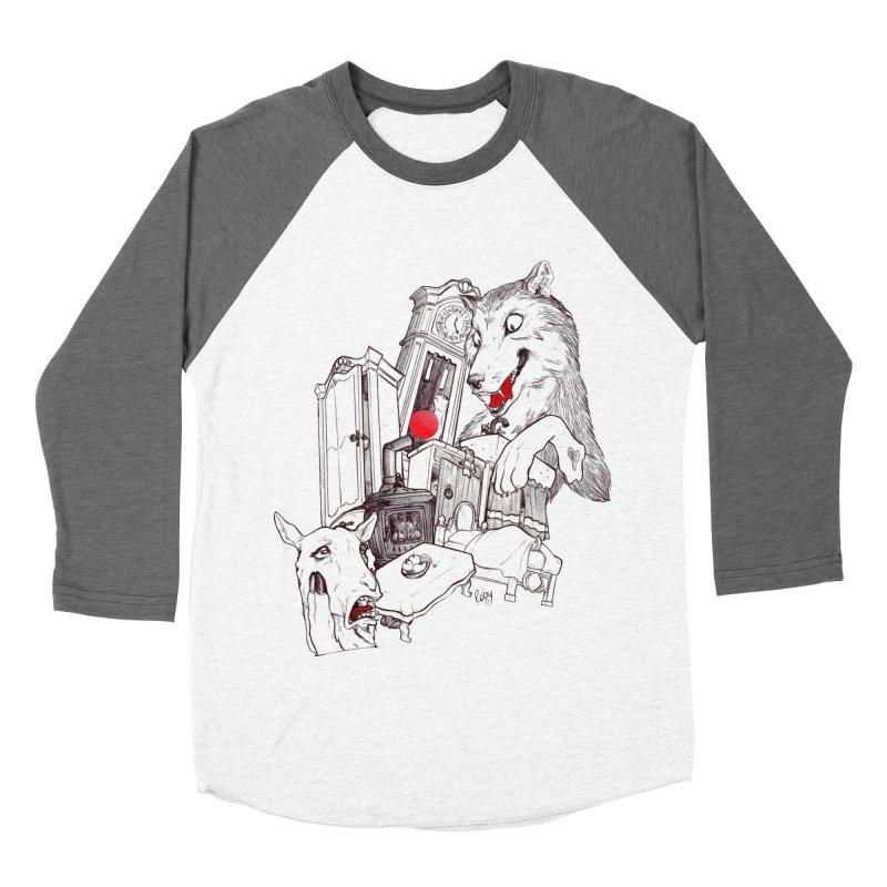 Wolf&7LittleGoats Women's Baseball Triblend T-Shirt by roby's Artist Shop