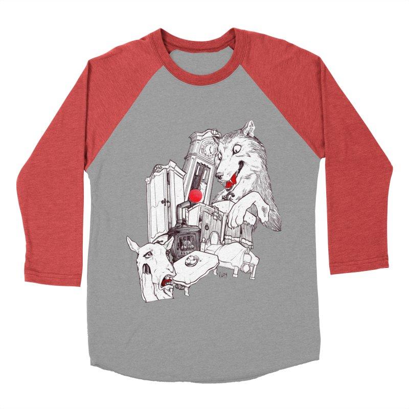 Wolf&7LittleGoats Women's Baseball Triblend Longsleeve T-Shirt by roby's Artist Shop