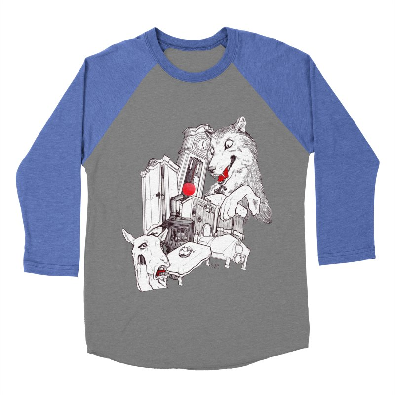Wolf&7LittleGoats Men's Baseball Triblend T-Shirt by roby's Artist Shop
