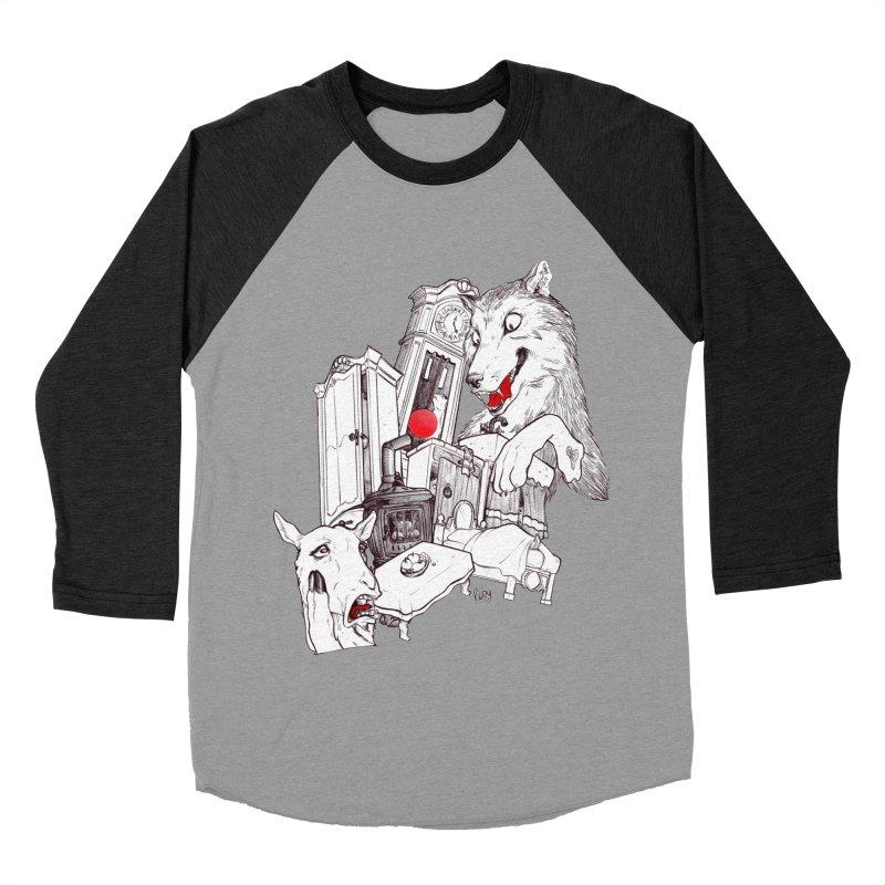 Wolf&7LittleGoats Men's Baseball Triblend Longsleeve T-Shirt by roby's Artist Shop