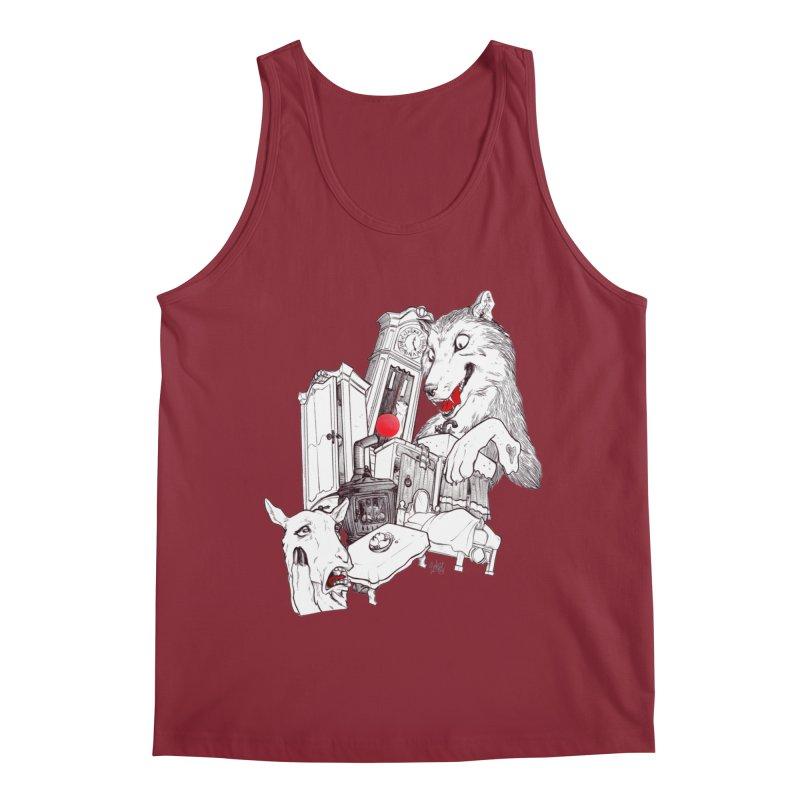 Wolf&7LittleGoats Men's Tank by roby's Artist Shop