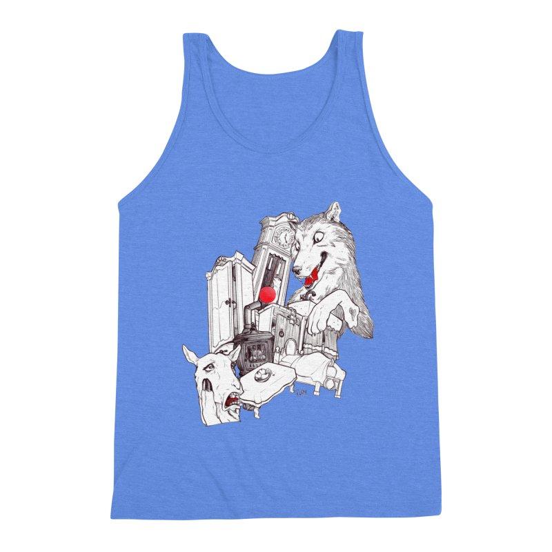 Wolf&7LittleGoats Men's Triblend Tank by roby's Artist Shop