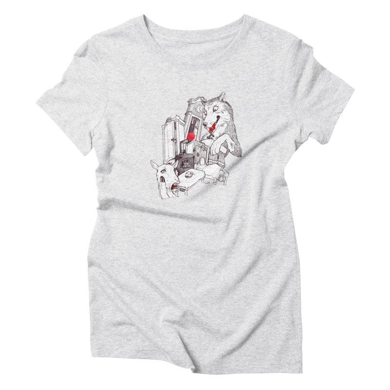 Wolf&7LittleGoats Women's T-Shirt by roby's Artist Shop
