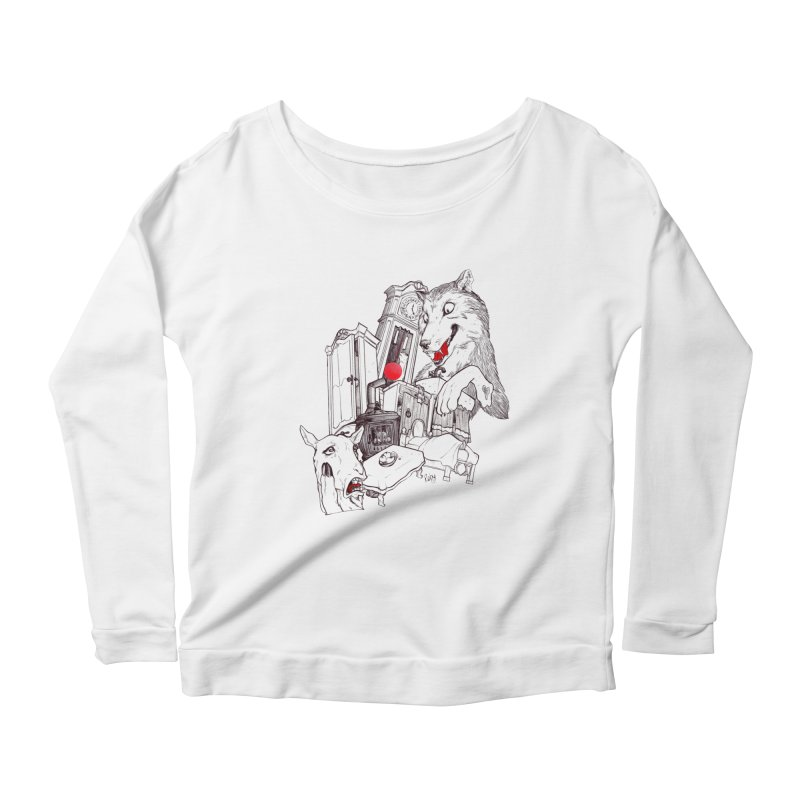 Wolf&7LittleGoats Women's Scoop Neck Longsleeve T-Shirt by roby's Artist Shop