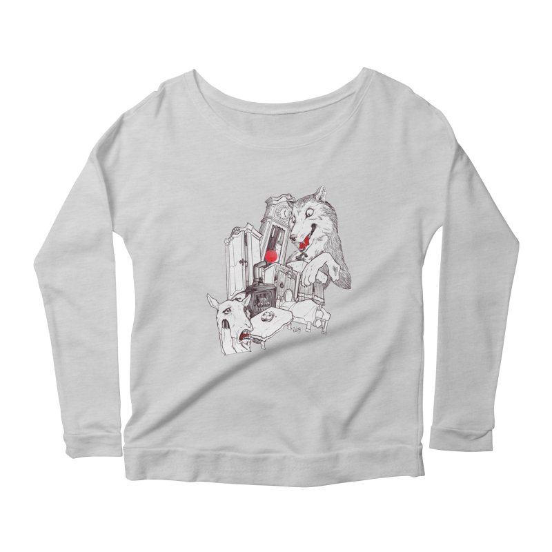 Wolf&7LittleGoats Women's Scoop Neck Longsleeve T-Shirt by roby's Artist Shop