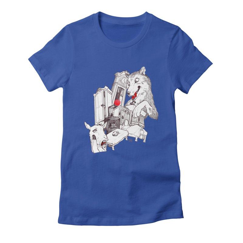 Wolf&7LittleGoats Women's Fitted T-Shirt by roby's Artist Shop
