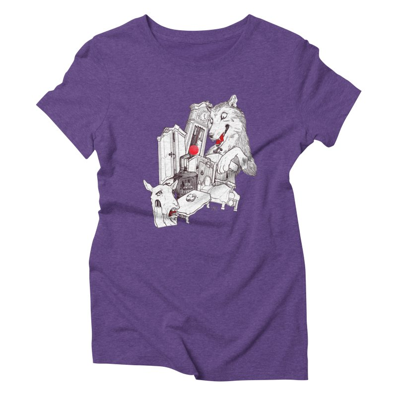 Wolf&7LittleGoats Women's Triblend T-Shirt by roby's Artist Shop