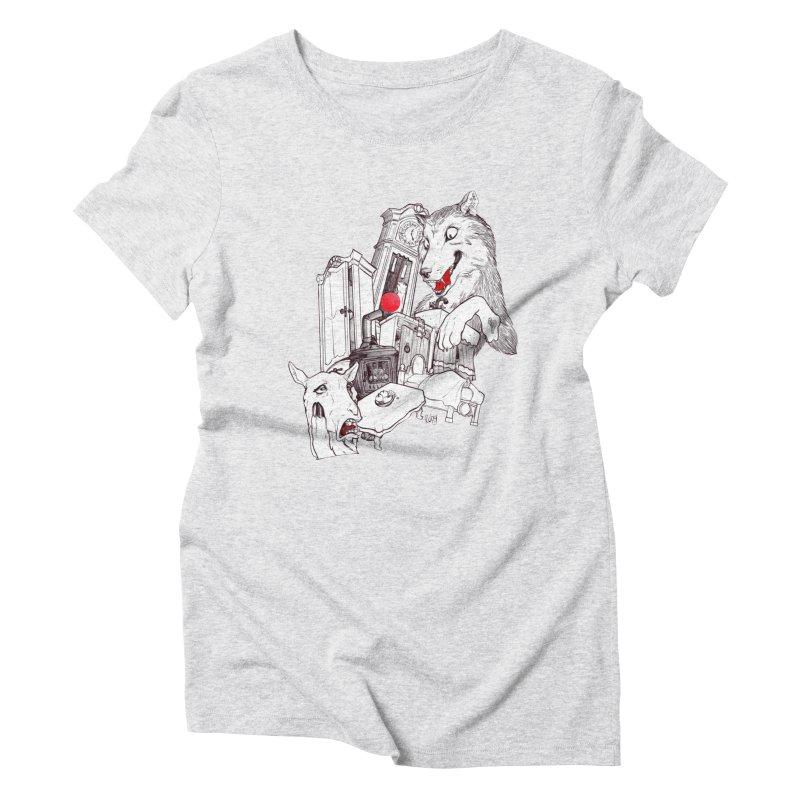 Wolf&7LittleGoats Women's Triblend T-Shirt by roby's Artist Shop