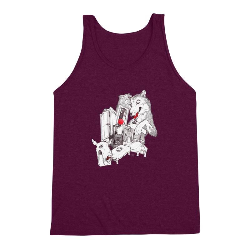 Wolf&7LittleGoats Men's Triblend Tank by roby's Artist Shop