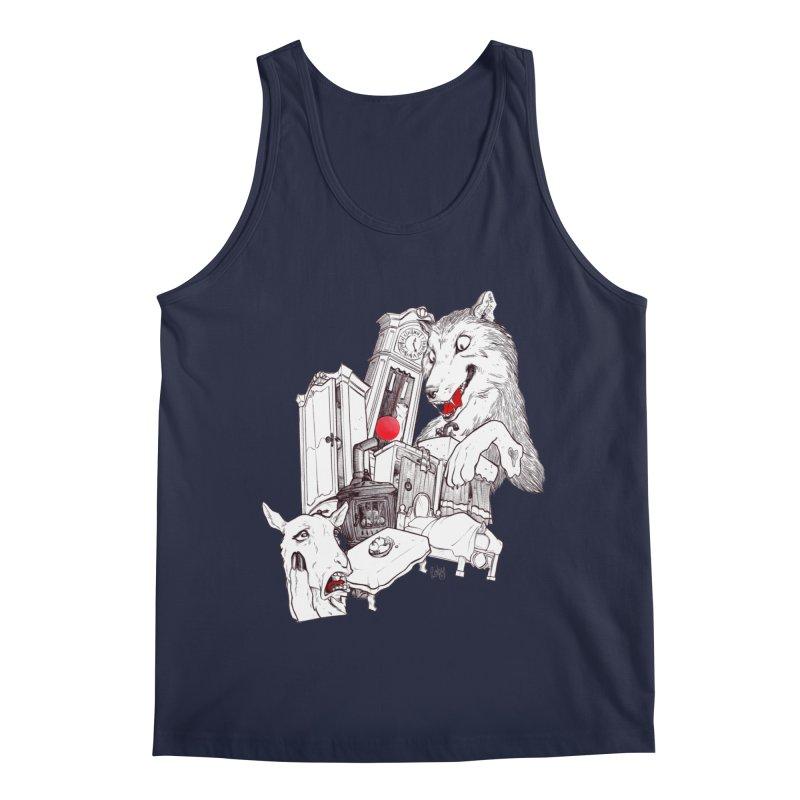 Wolf&7LittleGoats Men's Regular Tank by roby's Artist Shop