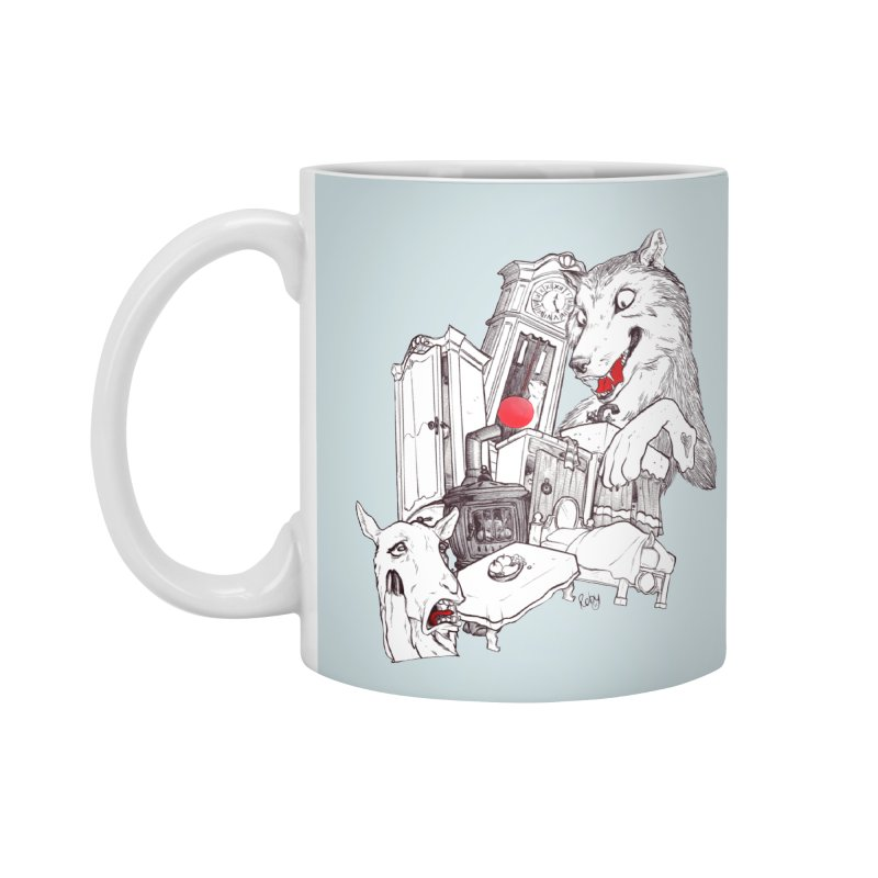 Wolf&7LittleGoats Accessories Mug by roby's Artist Shop