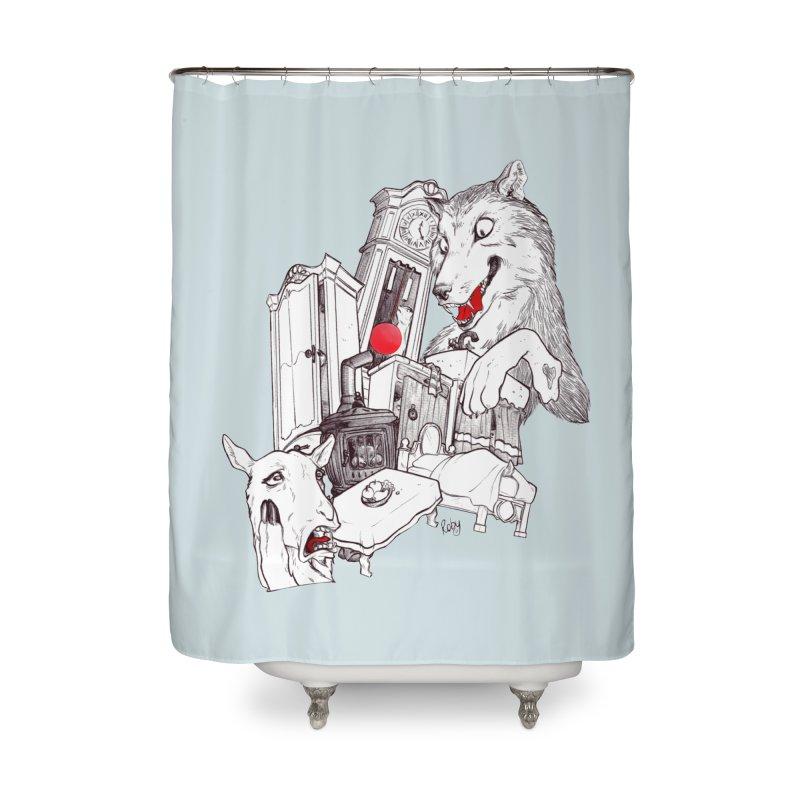 Wolf&7LittleGoats Home Shower Curtain by roby's Artist Shop