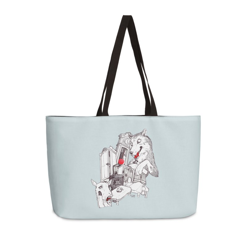 Wolf&7LittleGoats Accessories Weekender Bag Bag by roby's Artist Shop