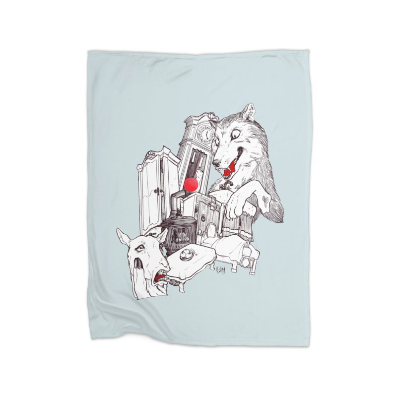 Wolf&7LittleGoats Home Fleece Blanket Blanket by roby's Artist Shop