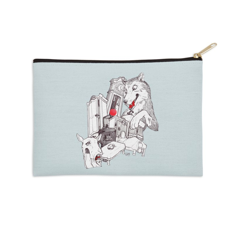 Wolf&7LittleGoats Accessories Zip Pouch by roby's Artist Shop